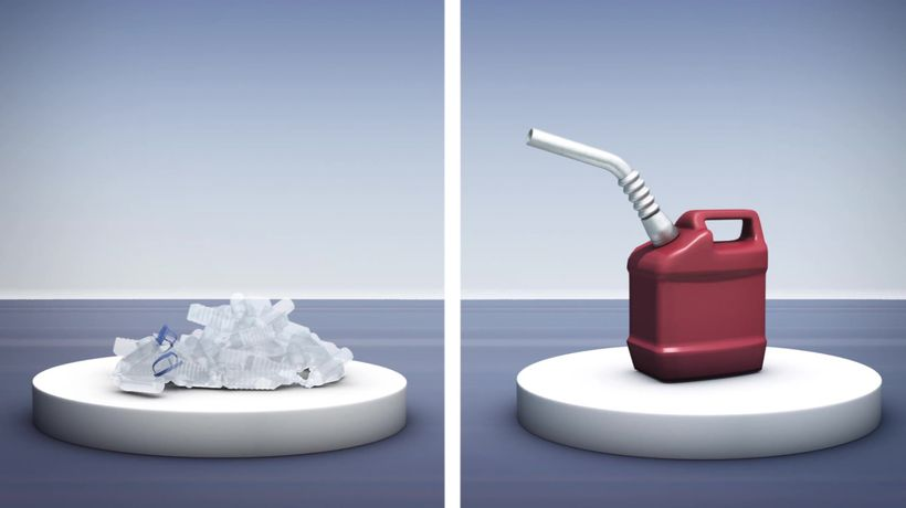 Turning plastic into usable fuel