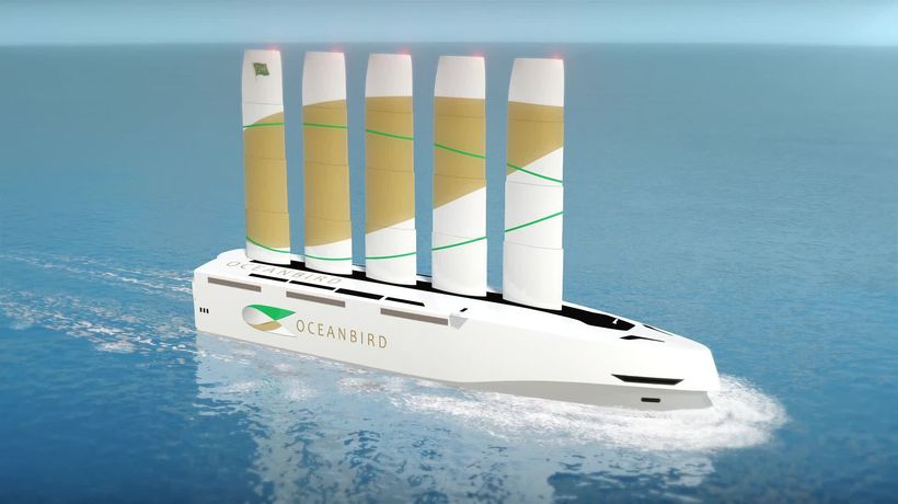 Giant sail ship would carry up to 7,000 cars