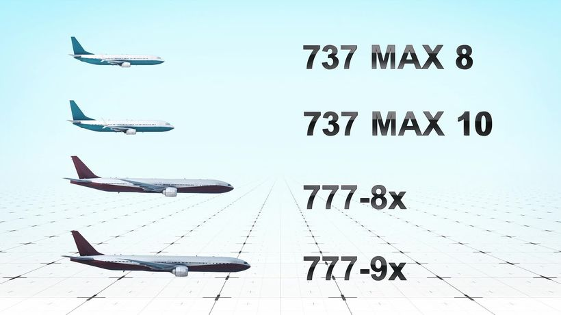 Boeing's two new airliner families: S vs XXL