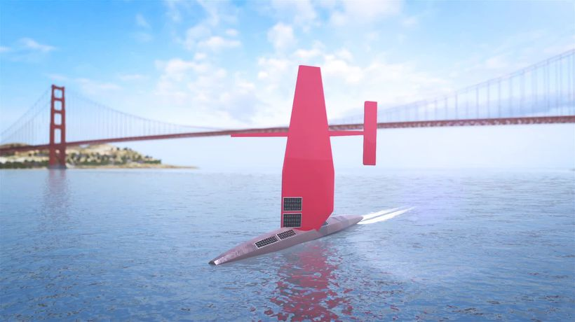 Saildrone: Solar and wind-powered vessel sets sail to map the ocean floor