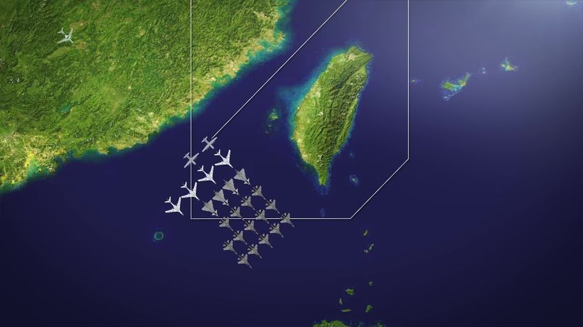 China's Year High for Incursions into Taiwanese Air Space