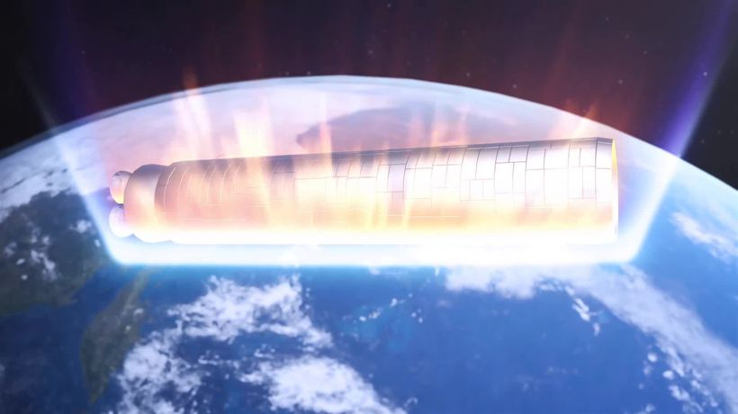 Giant Chinese rocket's pieces to rain down on Earth, again