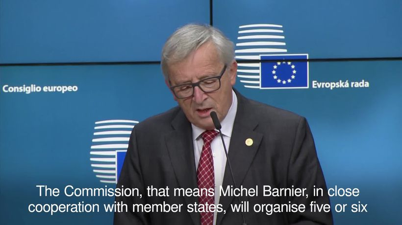 Juncker expects the second round of Brexit talks to start in March
