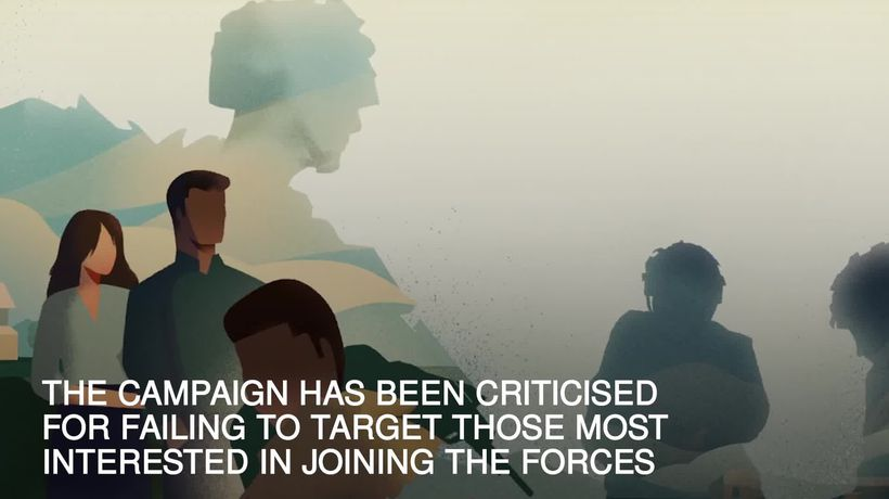 New Army recruitment ads criticised for 'neglecting main group of people interested in joining'