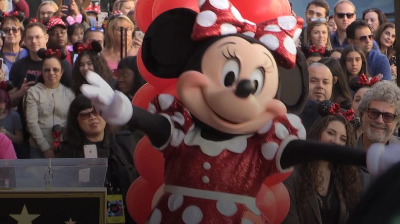 Katy Perry presents Hollywood Walk of Fame star to Minnie Mouse