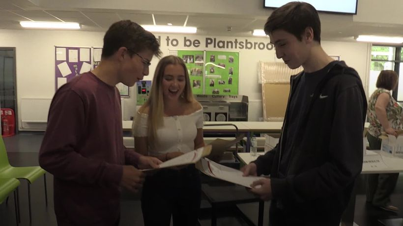 Students collect GCSEs after 'hardest ever' year