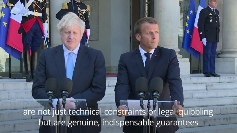 Macron warns Johnson not to expect major changes to Brexit deal