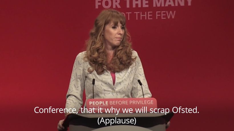 Angela Rayner: Labour would abolish Ofsted