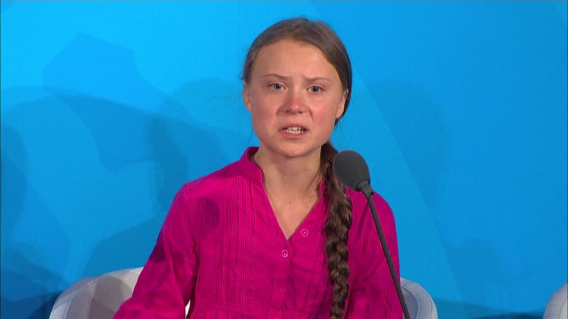 Greta Thunberg condemns politicians at the UN
