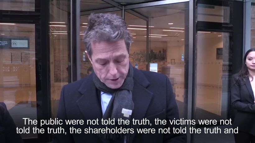 Hugh Grant settles hacking claim against the Mirror
