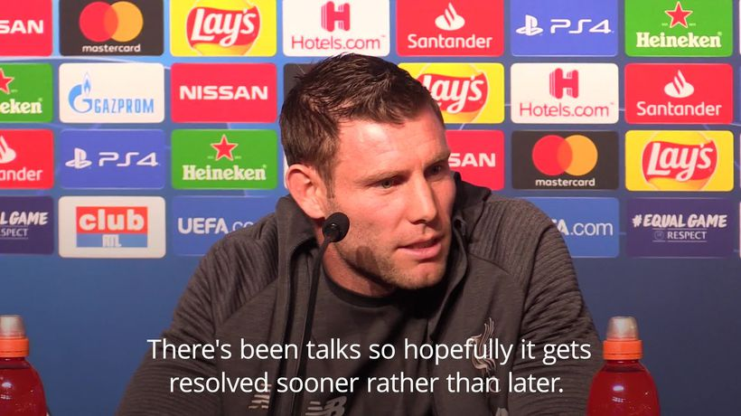 Milner wants Liverpool future resolved