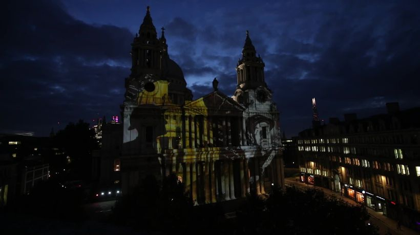 Where Light Falls illuminations at St Paul's Cathedral