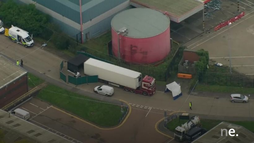 Police launch murder investigation after 39 bodies found in lorry container
