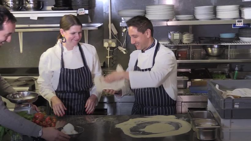 Jo Swinson makes pizza and plants a tree while campaigning in London