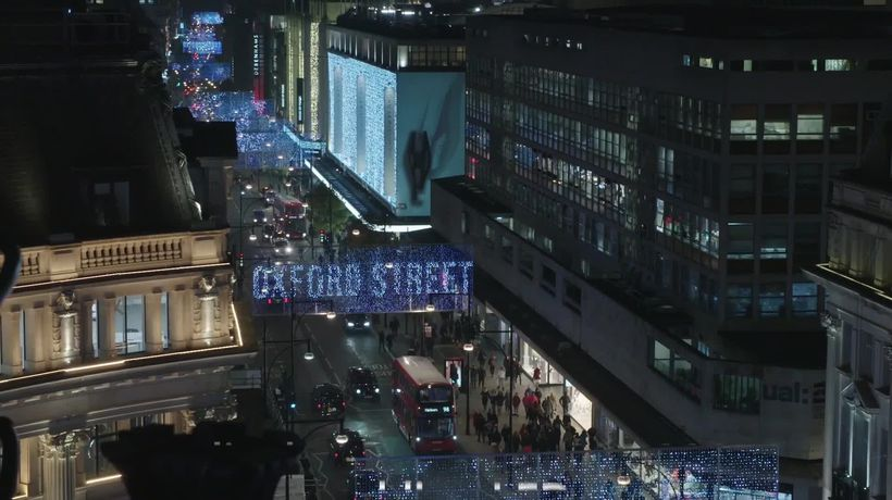 Shoppers enjoy festive display on Oxford Street as Christmas lights switched on