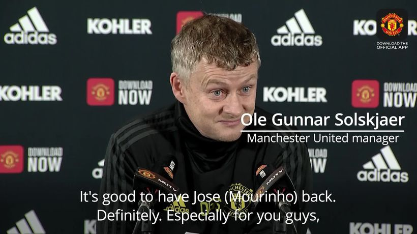 Ole Gunnar Solskjaer: It's good to have Jose Mourinho back in the Premier League