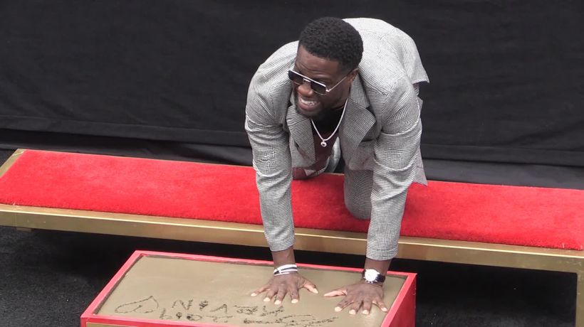 Kevin Hart immortalised with Hollywood handprint