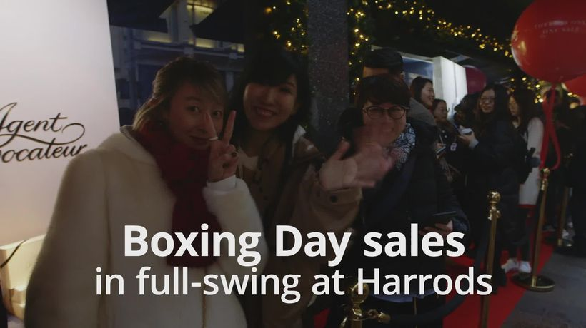 Boxing Day sales in full-swing at Harrods
