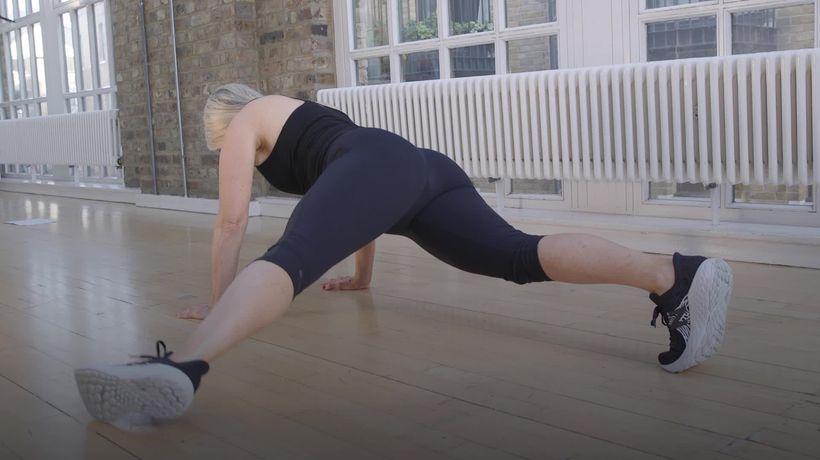 10-minute 'core and cardio' workout for January