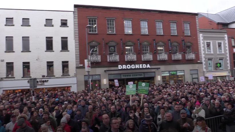 Thousands attend Drogheda rally in opposition to drug-related violence