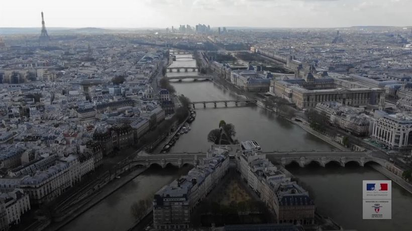 Paris in lockdown from above