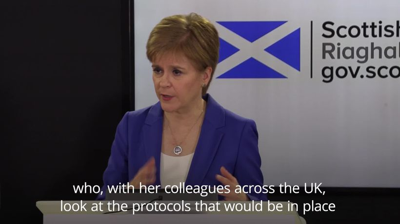 Nicola Sturgeon wishes Boris Johnson a 'very speedy recovery' as he tests positive for Covid-19