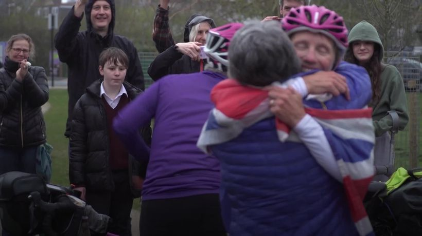 Two women break the record for cycling around the world on a tandem