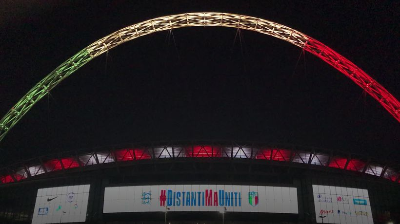 Wembley lights up for Italy