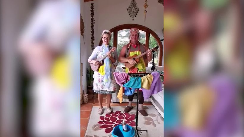 British couple wear different fancy dress costume every day during lockdown
