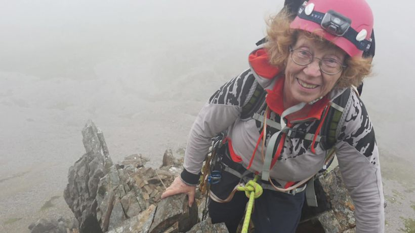 Meet the rock-scaling OAP who has turned her home into a makeshift climbing wall