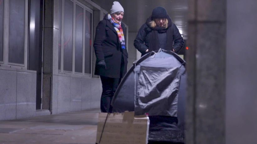Frozen Britain: A night with London's homeless
