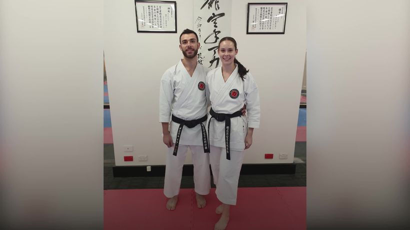 Karate couple find love on the mat
