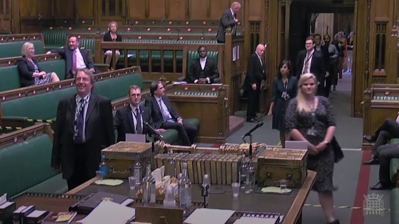 MPs vote against remote voting - despite long queues through the Commons