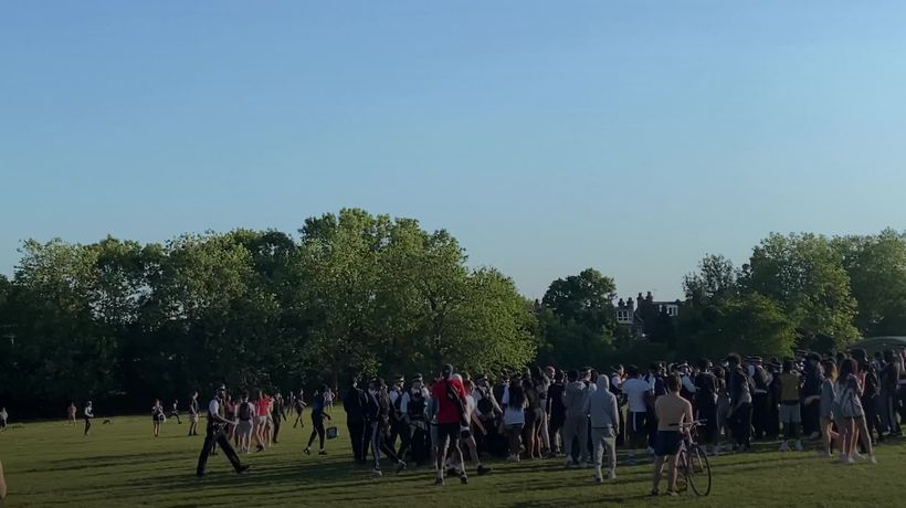 Six arrested as police face Hampstead Heath brawl