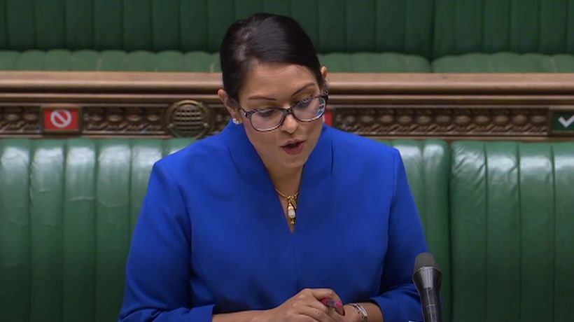 Priti Patel: Travellers from overseas could increase the spread of Covid-19