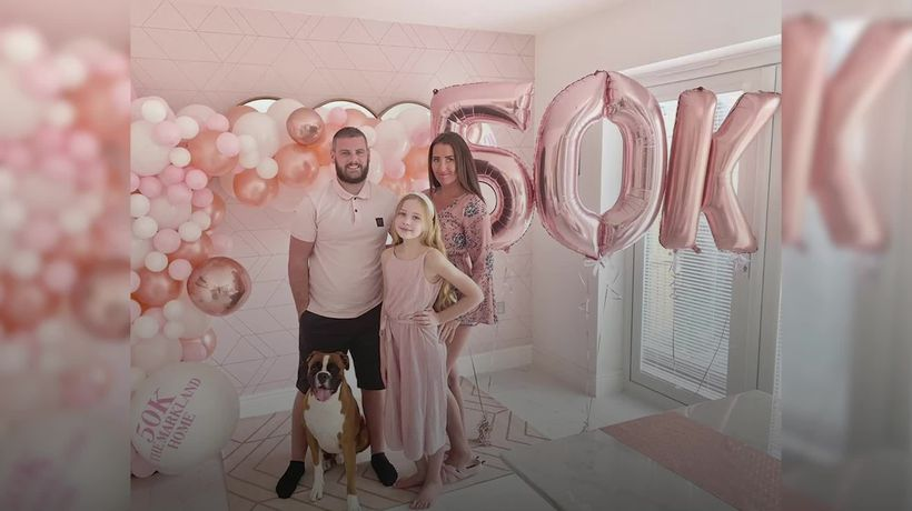 Wigan family tickled pink by GBP50,000 home transformation