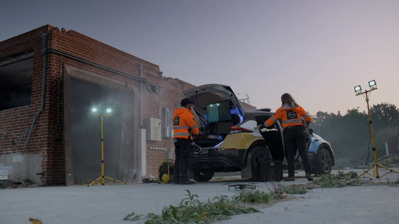 Nissan's new emergency relief vehicle: Re-Leaf