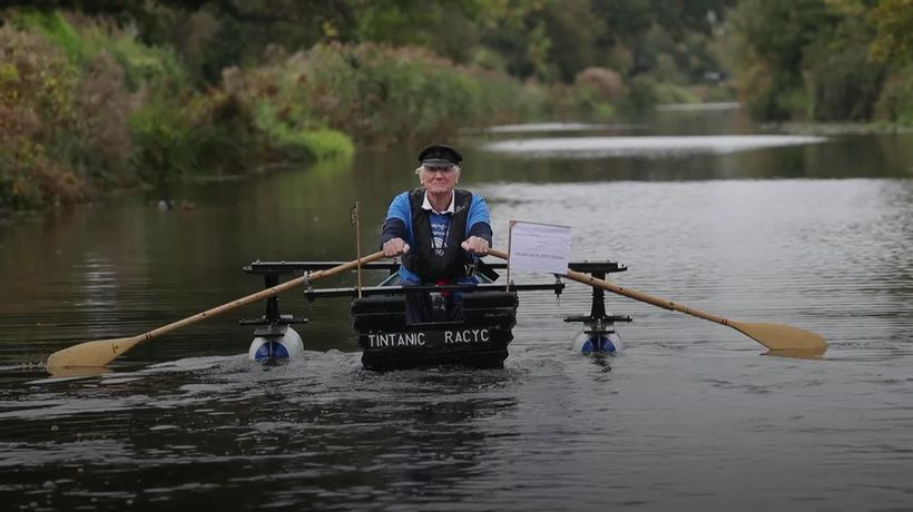 Retired Army major bids to row home-made Tintanic boat 100 miles for charity