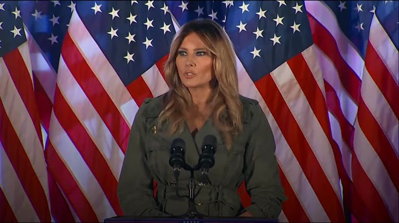 Melania Trump rages against Democrats in rare appearance on campaign trail