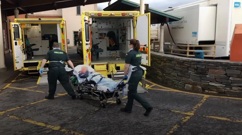 Ambulance workers fearful amid pandemic hospital surge