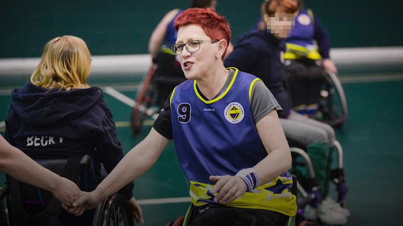 Wheelchair basketball champion inspires others with lockdown workouts