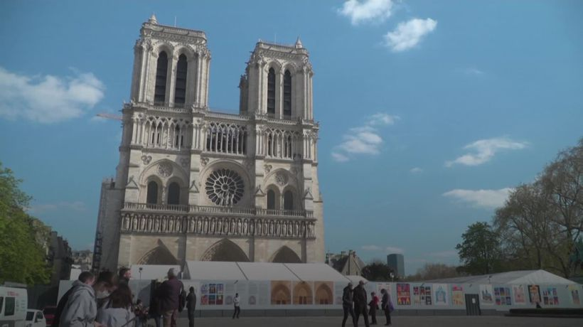 Repairs continue to restore Notre Dame after fire