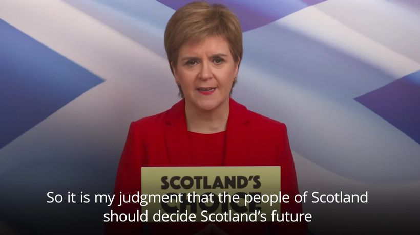 Sturgeon: People of Scotland should have their say on independence