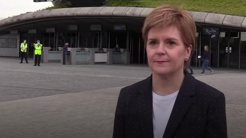 Sturgeon 'emotional' after receiving her first Covid vaccine