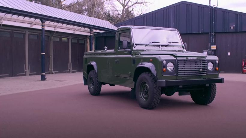 Prince Philip's personalised Land Rover hearse is unveiled