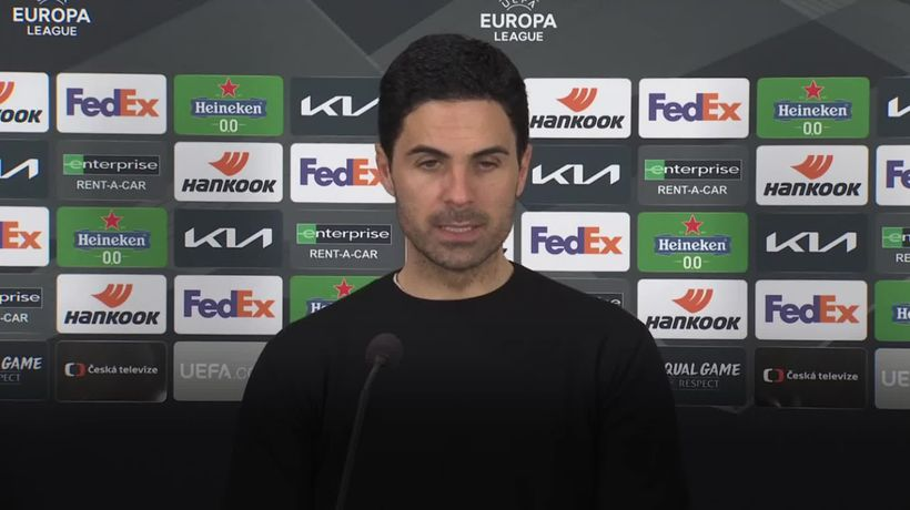 Mikel Arteta hails Arsenal youngsters as they ease past Slavia Prague