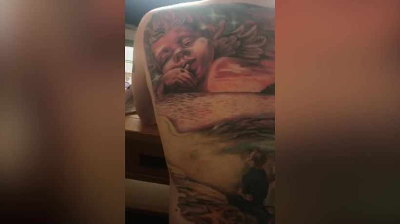 Devoted dad pays touching tattoo tribute to babies lost