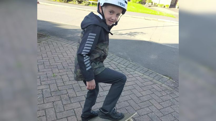 Eight-year-old skateboarder raises funds to save sick cat
