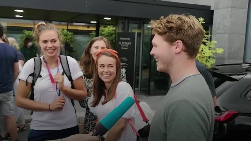 Ireland's bronze-winning rowers welcomed home by families