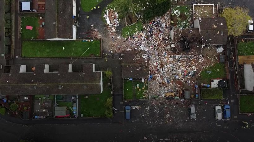 Family of four in serious condition in hospital after blast destroys house